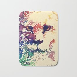 Watercolor Lion Bath Mat
