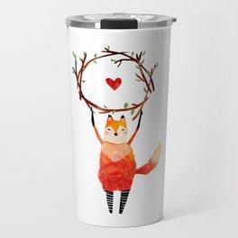 Fox with a Heart Travel Mug