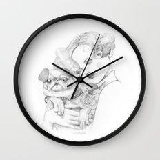 Vintage pug Wall Clock