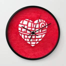 Death Star Heart Watercolor Wall Clock