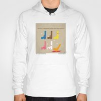 tarantino Hoodies featuring No069 My Reservoir Dogs minimal movie poster by Chungkong