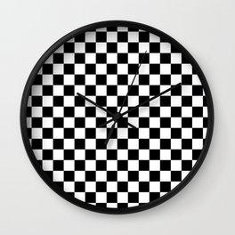 White and Black Checkerboard Wall Clock