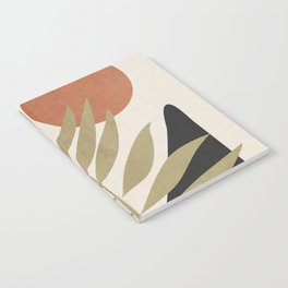 Tropical Leaf- Abstract Art 9 Notebook