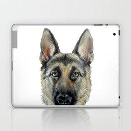 Shepard Dog illustration original painting print Laptop & iPad Skin