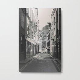 Soho London Black and white Metal Print