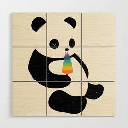 Panda Dream Wood Wall Art