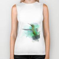 hummingbird Biker Tanks featuring Hummingbird by Marvelis