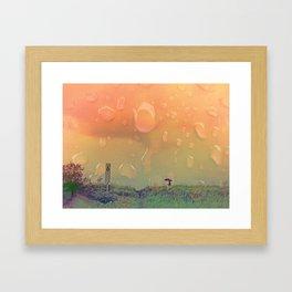 Rain in September Framed Art Print