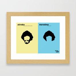 Sócrates x Maradona Framed Art Print