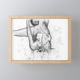 Please Don't Stop b&w Framed Mini Art Print