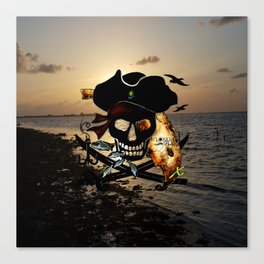Fishing with a Florida Pirate Canvas Print