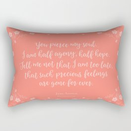 Jane Austen Persuasion Floral Love Letter Quote Rectangular Pillow