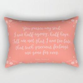 Jane Austen Persuasion Floral Love Letter Quote Rectangular Pillow