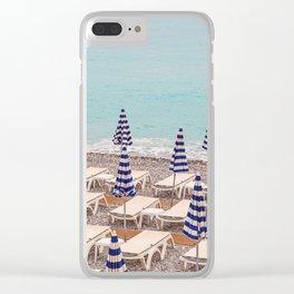 Beach Umbrellas in Nice Clear iPhone Case