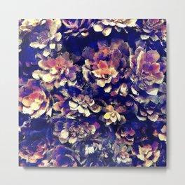 Textured Garden Succulents Metal Print