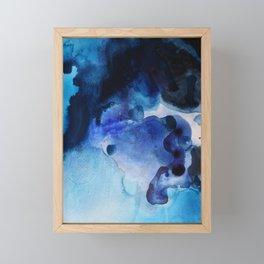 Indigo watercolor Framed Mini Art Print