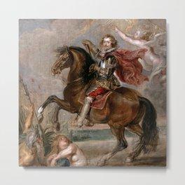 Peter Paul Rubens: Equestrian Portrait of the Duke of Buckingham Metal Print
