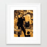 hiphop Framed Art Prints featuring Hiphop ... by SLip