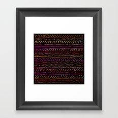 FUNKY RHYTHM - Collab Art with Sreetama Ray, Bright Bold Fun Pattern Collaboration Piece Framed Art Print