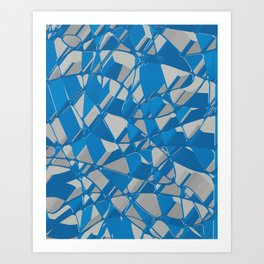 3D Abstract Futuristic Background II Art Print