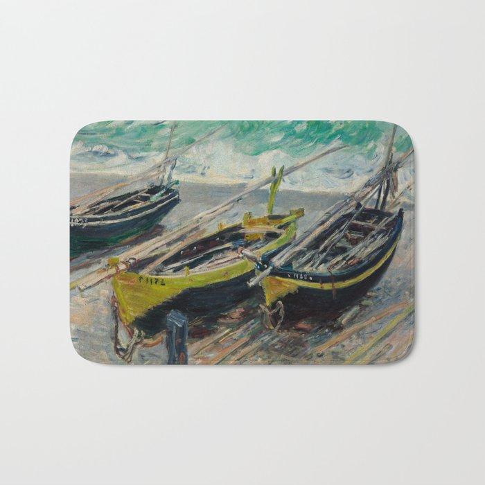 Claude Monet - Three Fishing Boats Bath Mat