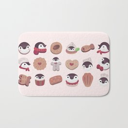 Cookie & cream & penguin - pink pattern Bath Mat