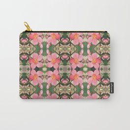 Pink Flower Pattern Carry-All Pouch