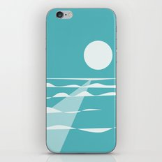 Ocean View with Full Moon iPhone Skin