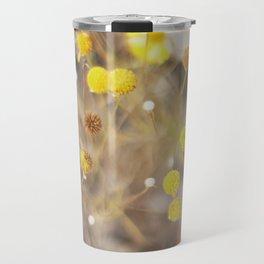 Abstract Botanical - Billy Buttons Travel Mug