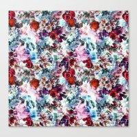 floral pattern Canvas Prints featuring Floral Pattern by Eduardo Doreni