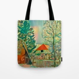 The House by the Wall Tote Bag
