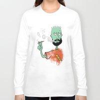 jay fleck Long Sleeve T-shirts featuring beard on fleck 3 0f 4 by Cimone Key