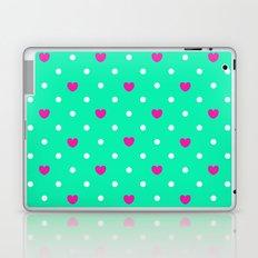 Polka hearts Laptop & iPad Skin
