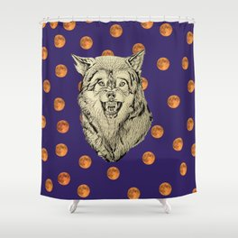 Wolf and Moons Shower Curtain