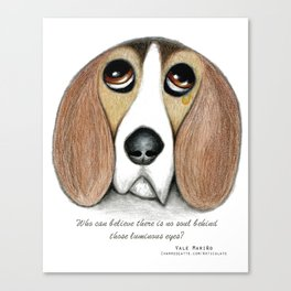 Soulful Eyes by Vale Marino Canvas Print