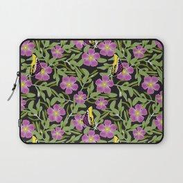Purple Cistus and Butterflies Laptop Sleeve
