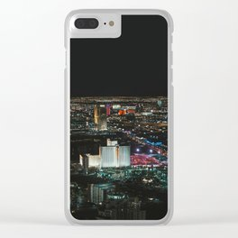 Las Vegas at Night // Nevada Clear iPhone Case