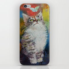 Kitten and Butterfly iPhone & iPod Skin