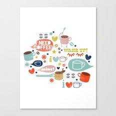 Caffeine Addict Canvas Print