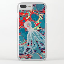 Vintage Octopus Clear iPhone Case