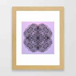 Black Lace Mandala Framed Art Print