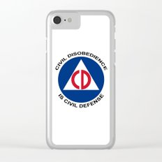 Civil Defence Clear iPhone Case
