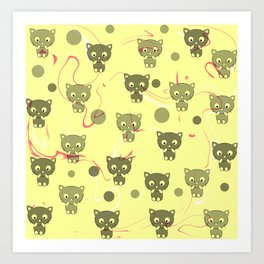 Cute happy kittens Art Print