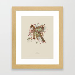 Celtic Initial R Framed Art Print