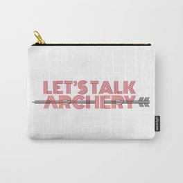 LET'S TALK ARCHERY Carry-All Pouch