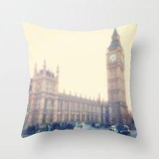 Black Cab Throw Pillow