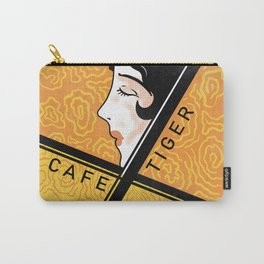Cafe Tiger Vintage Japanese Matchbox Design Carry-All Pouch