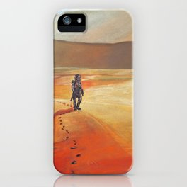 The Martian Mars walk inspired chalk drawing iPhone Case