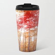 Red and Gold Metal Travel Mug