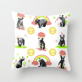 Happy Bears Throw Pillow